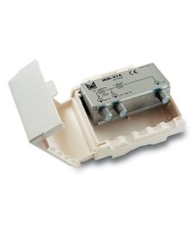 Misturador  2 entradas, TV-SAT, com P.C. Em SAT  p/exterior - MM-214