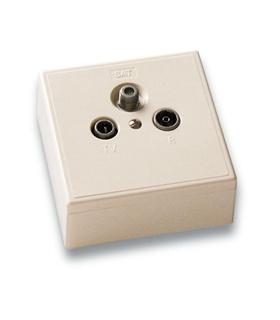 Tomada FI final 2 dB com 3 conectores, passagem de corrente - BS-102