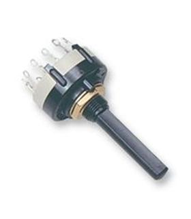Comutador Rotativo 2 Circuitos 6 Posições - CR2C6P