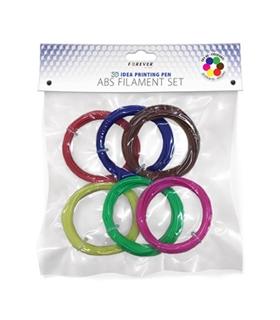 Pack de 6 Filamentos Impressao 3D - ABS3D6