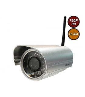 Câmera IP de Exterior HD 1.0Mpx - Fixa - Prateada - FI9804W-PT