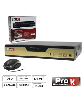 DVR04FK - VÍDEO-GRAVADOR DIGITAL 4 CANAIS QUAD H264 ETHERNET - DVR04FK