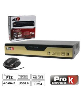 KITV0011A - Kit Vigilancia Dvr4 Canais + 4 Camaras Dome - KITV0011A