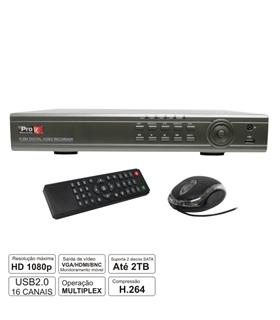 DVR16SK - Gravador Digital 16 Canais - DVR16SK