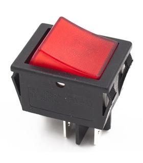 Interruptor Basculante Duplo Com Luz Inversor - 914BDLINV