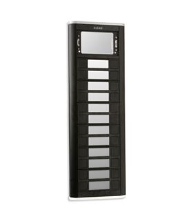 Placa de rua iBLACK com 12 pulsadoes simples e 1 janela - PPS-52112