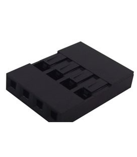2226A-04 - Ficha NSR 4 Conectores Femea, 2.54mm S Term - 2226A-04