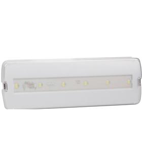 LLEMERGENCIA300/6 - Luz de emergência LED aplique 3W - LLEMERGENCIA300/6