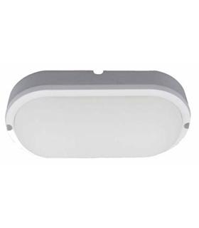 Painel LED Ovar Aplique 12W 180mm 900lm Branco Frio - APLOV1218CW