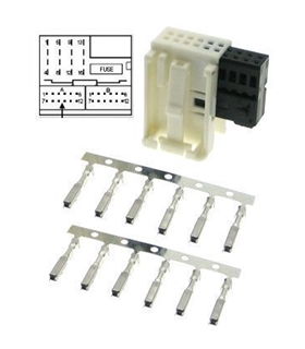 80290 - Kit Ficha Quadlock 12 pinos - MX80290