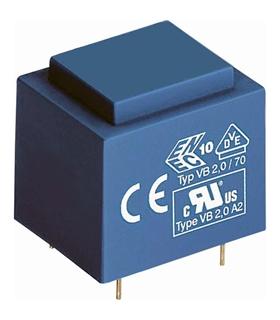 Transformador 220V, 0-12-0-12V, 2VA para Circuito Impress - T2012D2CI