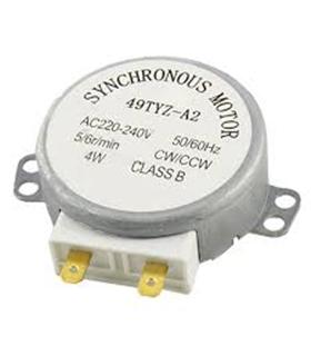 Motor Para Micro-Ondas c/ Veio Plástico 230Vac 4W 5rpm - 49TYZ-A2