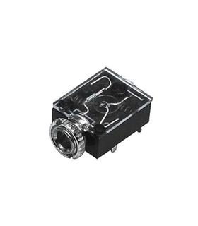 Ficha Jack Fêmea Painel 3.5mm Mono C/Interruptor - J3FMPI