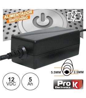 Alimentador 12Vdc 5A 5.5x2.5mm - FAS12V5AH
