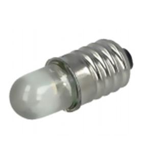 Lâmpada miniatura LED E10 3000K(branco quente) - 3-12V - MX3063610
