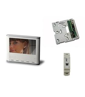 Conjunto monitor cores mãos livres adicional, sistema 2 fios - KMC-12500