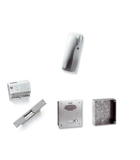 Kit porteiro anti-vandalico de 1 pulsador simples, BUS 2 fio - KAS-67001