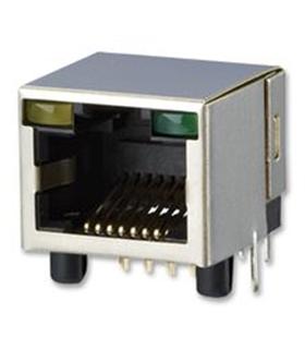 Ficha Rede RJ45 8p Circuito Impresso C/ LED - AJT34L8813-011