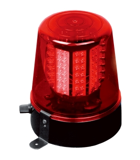 JDL010R - Pirilampo Leds Rotativo 360º Vermelho - JDL010R