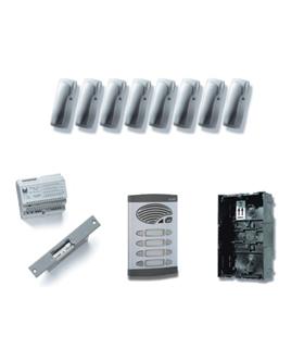 Kit de 4 pulsadores duplos, com sistema de chamada 4+N - KAD-41004