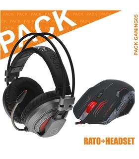 Pack Gaming 05 - Auscultadores e Rato MANTA - GAMING05