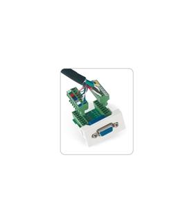 WP-51V - Conector VGA HD15 fêmea para 1/2 painel de ligação - WP51V