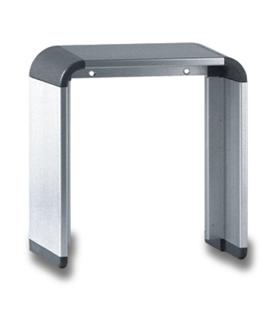 Viseira simples caixa superficie para 3 ou 4 alturas - VIS-212
