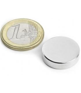 Iman - Disco Magnetisado em Neodimio, N45, 13mm 1mm - MXS1301N