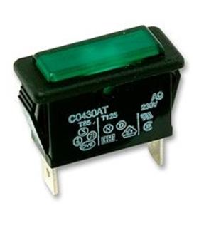 Indicador Verde, 250V, Rectângular, 20mA - C0430ATNAC