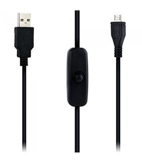 Cabo USB - Micro USB com Interruptor para Raspberry - CABORASPBERRY