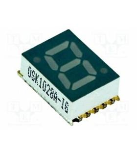 OSK1039A-LG - LED 7 Segmentos Catodo Comum 10mm 8-25mcd - OSK1039A-LG