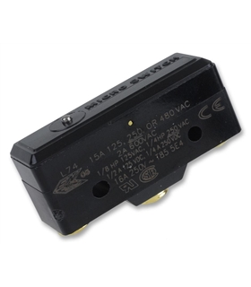 BZ-2R-A2 - Microswitch, Snap Action, SPDT, 15A/250Vac - BZ2RA2