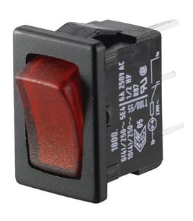 MARQUARDT 1800.0103 - Interruptor Basculante Pequeno C/Luz - 1800.0103
