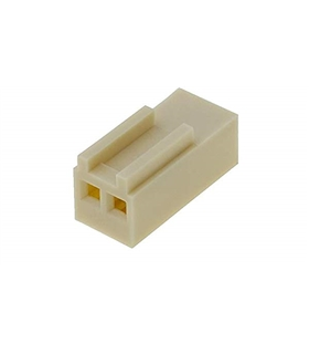 Ficha Pin Socket 2 Pinos Fêmea, 2.54mm - 69PS2