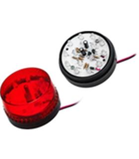 26-424 - Strobo Vermelho LED 12Vdc 140mA 72.8x63mm - 26-424
