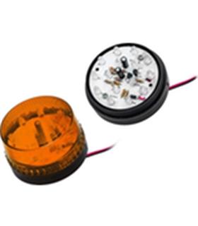 26-426 - Strobo Laranja LED 12Vdc 140mA 72.8x63mm - 26-426