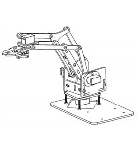 Braço Robotico Acrilico 4 DOF sem Servo - MXR0077