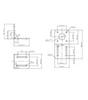 MXI0044 - Suporte de Montagem para Motor Passo Nema 17 - MXI0044