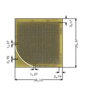 RE012-LF - Placa C.I. Perfurada 39x38mm - RE012-LF