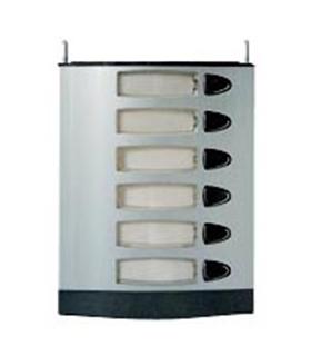 Módulo com 6 pulsadores simples, 2 fios L201 - MPS-106