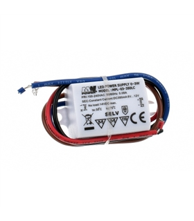 MPL-03-350LC - Led Power Supply, 12V, 350mA, 3W - MPL03350LC