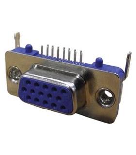 634-015-274-992 - Conector VGA, 90º, CI, Fêmea - 634015274992