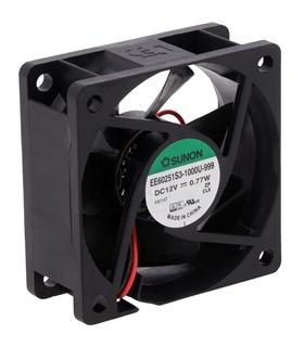 EE60251S3-1000U-999 - Ventilador 12V, 60x60x25mm, 770mW - EE60251S31000U999