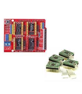 CNC Shield Board + 4x A4988 Stepstick 3D Printer - MXI0105