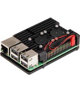 Caixa Para Raspberry Pi 3 em Aluminio c/ 2 Ventoinhas - MX0967668
