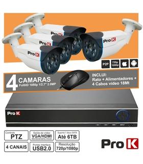 DVRPACK04AA- Kit Vigilancia DVR 4 Canais + 4 Camaras - DVRPACK04AA