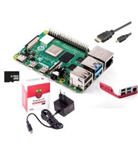 Kit Raspberry Pi 4 1Gb com 16Gb, Alimentador 3.0A - RASP4KIT1GB