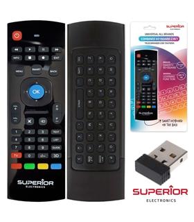Comando Tv Universal Com Função Teclado e Rato - SUPCRUK