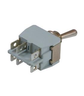 Interruptor Grande Alavanca DPDT, 15A, 250V. On-On - 646H2