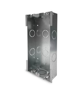 Caixa encastrar metálica p/ pladur ou calha central CHC-23X - CMO-406